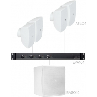 FESTA4.5E/W - Small Foreground Set 4x Ateo4 + Baso10 & Epa104 - White