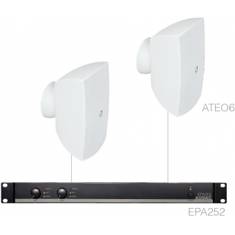 FESTA6.2E/W - Small Foreground Set 2x Ateo6 + Epa252 - White
