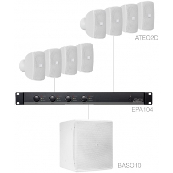 SUBLI2.9E/W - Compact Background Set 8x Ateo2d & Baso10 & Epa104 - White