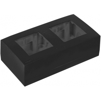 WB45D/B - Double Surface Mount Box For 45x45mm Wall Panel - Ral9004