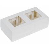 WB45D/W - Double Surface Mount Box For 45x45mm Wall Panel - Ral9010