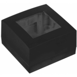WB45S/B - Single Surface Mount Box For 45x45mm Wall Panel - Ral9004