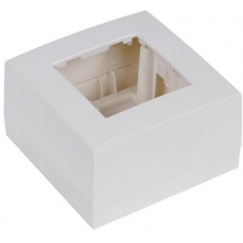 WB45S/W - Single Surface Mount Box For 45x45mm Wall Panel - Ral9010