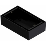 WB50/B - Surface Mount Box For Audac Wallpanel - Black