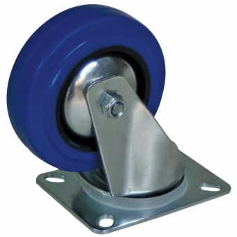"CAS110 - Swivel Bearing Caster 4"" (100mm) Blue Rubber"