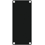 CASY101/B - Casy 1 Space Closed Blind Plate - Black