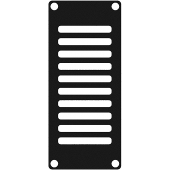 CASY102/B - Casy 1 Space Vented Blind Plate - Black