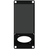 CASY104/B - Casy 1 Space Angled Cover Plate With D-size Hole - Black