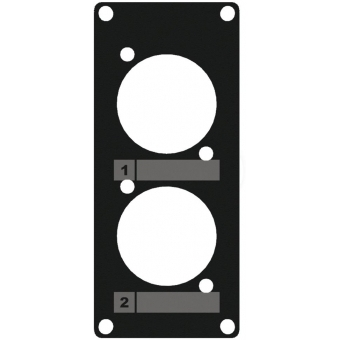 CASY105/B - Casy 1 Space Cover Plate - 2 X D-size Holes - Black