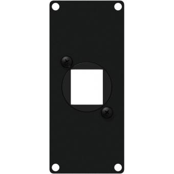 CASY106/B - Casy 1 Space Cover Plate - 1 X Keystone Adapter - Black
