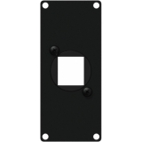 CASY106/B - Casy 1 Space Cover Plate - 1 X Keystone Adapter - Black