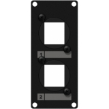 CASY107/B - Casy 1 Space Cover Plate - 2 X Keystone Adapter - Black