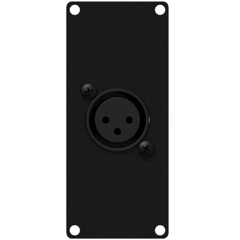 CASY121/B - Casy 1 Space With Xlr Female To 3-pin Tb - Black