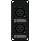 CASY125/B - Casy 1 Space With 2 X Xlr Female To 3-pin Tb - Black