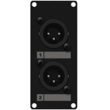 CASY126/B - Casy 1 Space With 2 X Xlr Male To 3-pin Tb - Black