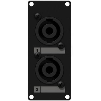 CASY142/B - Casy 1 Space With 2 X Speakon To 4-pin Tb - Black