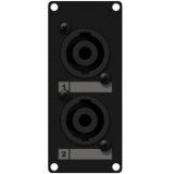 CASY142/B - Casy 1 Space With 2 X Speakon To 4-pin Tb - Black