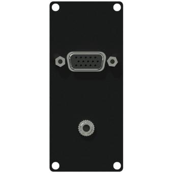 CASY151/B - Casy 1 Space Vga & 3.5mm Jack Gender - Black