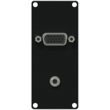 CASY151/B - Casy 1 Space Vga & 3.5mm Jack Gender - Black