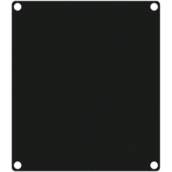 CASY201/B - CASY 2 space closed blind plate - Black version