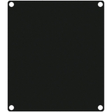 CASY201/B - Casy 2 Space Closed Blind Plate - Black