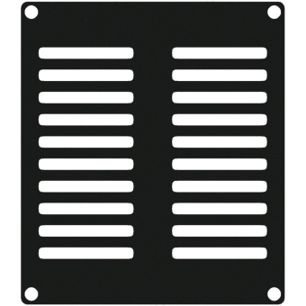 CASY202/B - Casy 2 Space Vented Blind Plate - Black