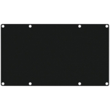 CASY401/B - Casy 4 Space Closed Blind Plate - Black
