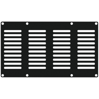 CASY402/B - Casy 4 Space Vented Blind Plate - Black