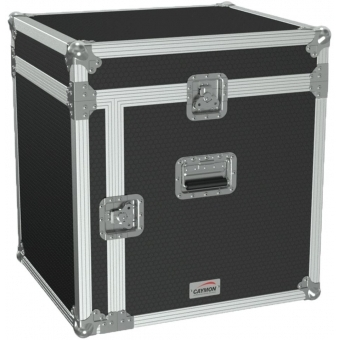 "FCC110/B - 19"" Open Combo Flightcase - 10 Unit + Mixer On Top - Black"