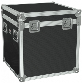 FCE066H/B - Flight Case Euro 600x600x620mm With Hinge Cover - Black