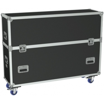 "FCP510/B - Flight Case 2x Flatscreen +55"" Max 1315 X 940 Mm - Black"