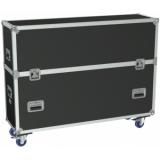 """FCP510/B - Flight Case 2x Flatscreen +55"""" Max 1315 X 940 Mm - Black"""