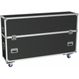 "FCP610/B - Flight Case 2x Flatscreen +70"" Max 1656 X 940 Mm - Black"