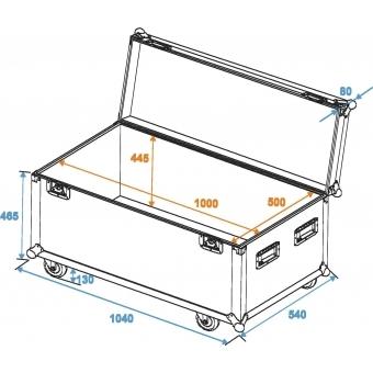 ROADINGER Universal Case Pro 100x50x50cm with wheels #6