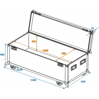 ROADINGER Universal Case Pro 140x50x50cm with wheels #6