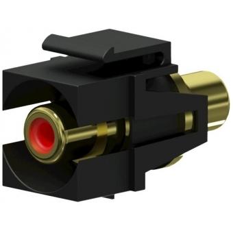 VCK107P/B - Keystone Adapter Rca F To Rca F - Pair - Black