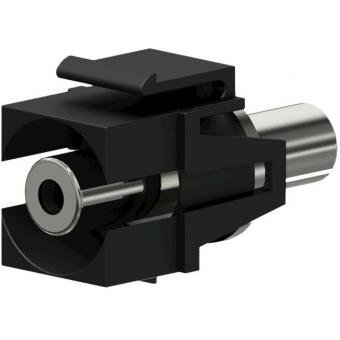 VCK310/B - Keystone Adapter 3.5mm Jack F To 3.5mm Jack F - Black