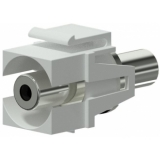 VCK310/W - Keystone Adapter 3.5mm Jack F To 3.5mm Jack F - White