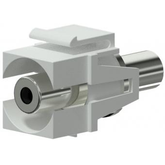 VCK310/W - Keystone Adapter 3.5mm Jack F To 3.5mm Jack F - White