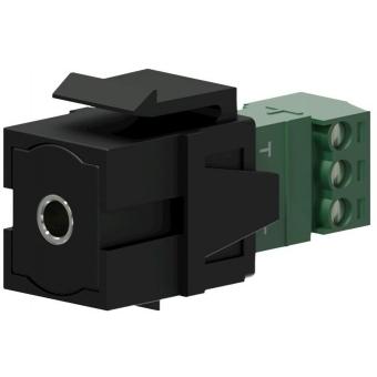 VCK315/B - Keystone Adapter 3.5mm Jack F To 3-p Terminal Block - Black