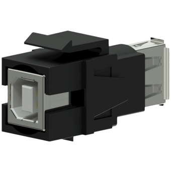 VCK620/B - Keystone Adapter Usb2.0 A To Usb2.0 B - Reversible - Black
