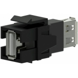 VCK622/B - Keystone Adapter Usb2.0 A To Usb2.0 A - Black
