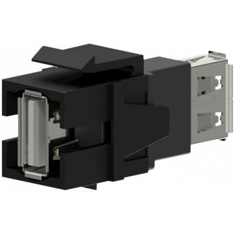 VCK622/B - Keystone Adapter Usb2.0 A To Usb2.0 A - Black