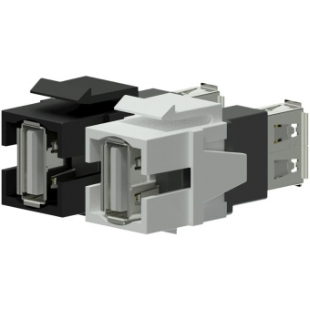 VCK622/W - Keystone Adapter Usb2.0 A To Usb2.0 A - White