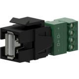 VCK625/B - Keystone Adapter Usb2.0 A To 4-pin Terminal Block - Black