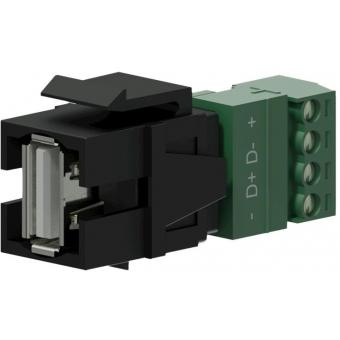 VCK625/B - Keystone Adapter Usb2.0 A To 4-pin Terminal Block - Black