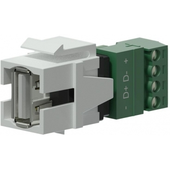VCK625/W - Keystone Adapter Usb2.0 A To 4-pin Terminal Block - White