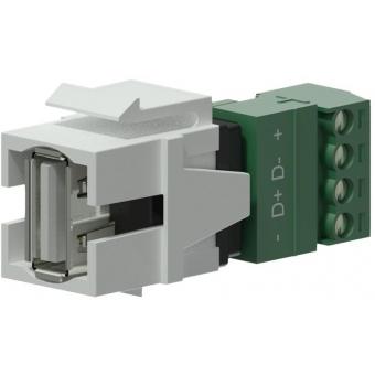 VCK625/W - Keystone Adapter Usb2.0 A To 4-pin Terminal Block - White