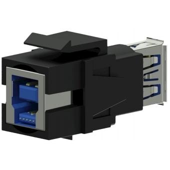 VCK630/B - Keystone Adapter Usb3.0 A To Usb3.0 B - Reversible - Black