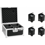 EUROLITE Set 4x AKKU UP-4 QCL Spot WDMX + Case